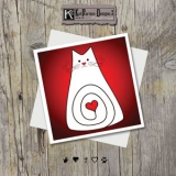 MOCK UP - Sq Plain Red cat