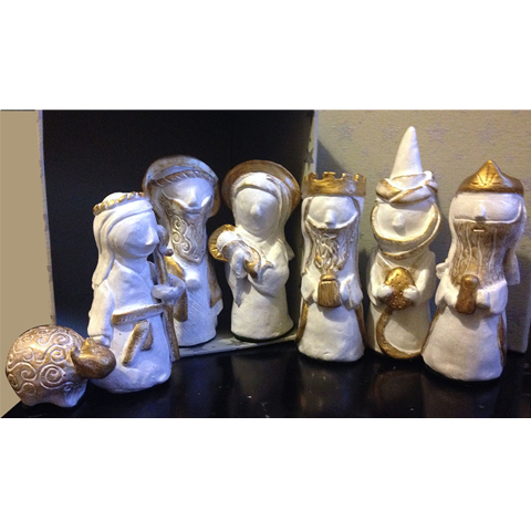 Handsculpted Nativity Set