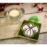 Guardian Angel Mini Canvas green