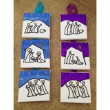 Mini Canvas Nativities - Hanging 3 part