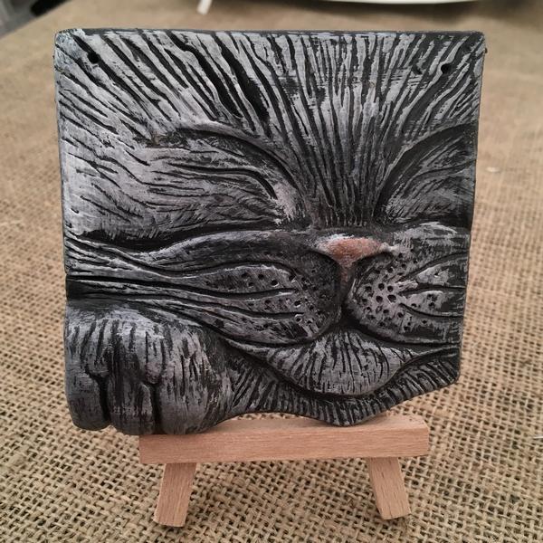Sleepy Cat Tile