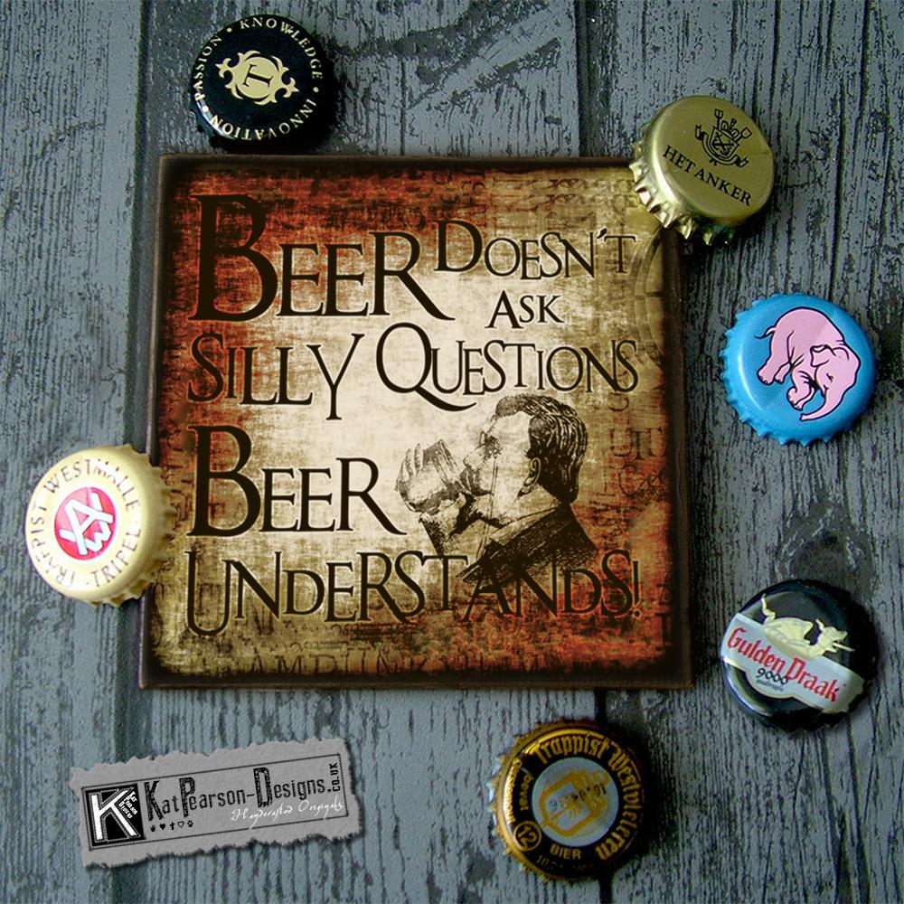 Mock Up - Single coaster with caps -Beer_Understands