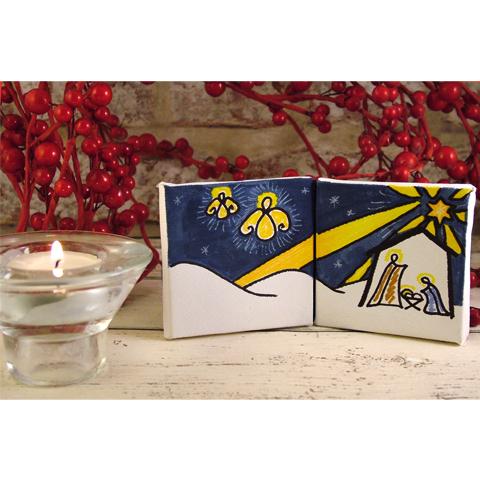 Mini Double Canvas Nativity