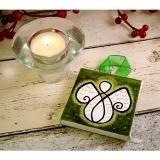 Guardian Angel Mini Canvas green